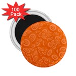 Orange Abstract 45s 2.25  Button Magnet (100 pack)