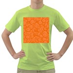 Orange Abstract 45s Men s T-shirt (Green)