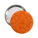 Orange Abstract 45s Handbag Mirror (2.25 )