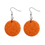 Orange Abstract 45s Mini Button Earrings