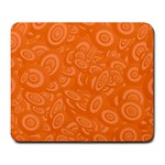 Orange Abstract 45s Large Mouse Pad (Rectangle)