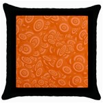 Orange Abstract 45s Black Throw Pillow Case