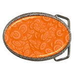 Orange Abstract 45s Belt Buckle (Oval)