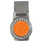 Orange Abstract 45s Money Clip (CZ)
