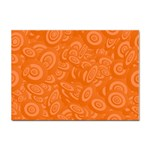 Orange Abstract 45s A4 Sticker