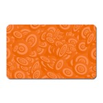 Orange Abstract 45s Magnet (Rectangular)