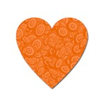 Orange Abstract 45s Magnet (Heart)