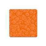 Orange Abstract 45s Magnet (Square)