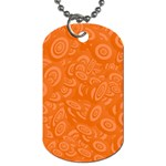 Orange Abstract 45s Dog Tag (One Sided)