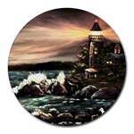 Kerry s Lighthouse - Ave Hurley - Round Mousepad