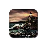 Kerry s Lighthouse -  Ave Hurley   - Rubber Square Coaster (4 pack)