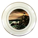 Kerry s Lighthouse - Ave Hurley - Porcelain Plate