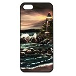Kerry s Lighthouse -  Ave Hurley   - Apple iPhone 5 Seamless Case (Black)