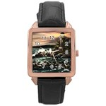 Kerry s Lighthouse -  Ave Hurley   - Rose Gold Leather Watch