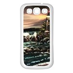 Kerry s Lighthouse -  Ave Hurley   - Samsung Galaxy S3 Back Case (White)
