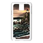 Kerry s Lighthouse -  Ave Hurley   - Samsung Galaxy Note 3 N9005 Case (White)