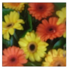 Orange Yellow Daisy Flowers Gerbera Large Satin Scarf (square) by yoursparklingshop