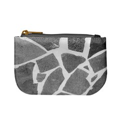 Grey White Tiles Pattern Coin Change Purse by yoursparklingshop