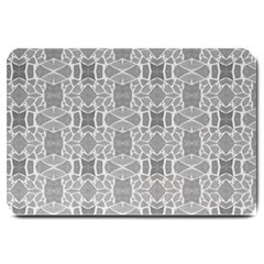 Grey White Tiles Geometry Stone Mosaic Pattern Large Door Mat by yoursparklingshop
