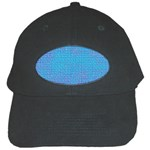 Textured Blue & Purple Abstract Black Baseball Cap