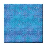 Textured Blue & Purple Abstract Ceramic Tile