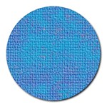 Textured Blue & Purple Abstract 8  Mouse Pad (Round)