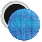 Textured Blue & Purple Abstract 3  Button Magnet