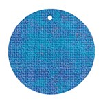 Textured Blue & Purple Abstract Round Ornament