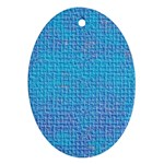 Textured Blue & Purple Abstract Oval Ornament