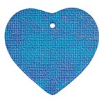 Textured Blue & Purple Abstract Heart Ornament