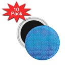 Textured Blue & Purple Abstract 1.75  Button Magnet (10 pack)