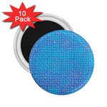 Textured Blue & Purple Abstract 2.25  Button Magnet (10 pack)