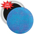 Textured Blue & Purple Abstract 3  Button Magnet (100 pack)