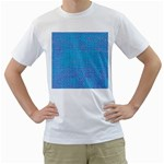 Textured Blue & Purple Abstract Men s Two-sided T-shirt (White)