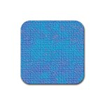 Textured Blue & Purple Abstract Drink Coaster (Square)