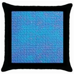Textured Blue & Purple Abstract Black Throw Pillow Case