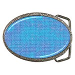 Textured Blue & Purple Abstract Belt Buckle (Oval)
