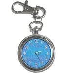 Textured Blue & Purple Abstract Key Chain Watch
