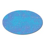 Textured Blue & Purple Abstract Magnet (Oval)