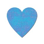 Textured Blue & Purple Abstract Magnet (Heart)