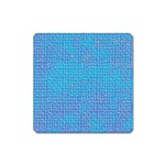 Textured Blue & Purple Abstract Magnet (Square)