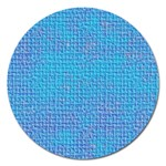 Textured Blue & Purple Abstract Magnet 5  (Round)