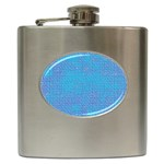 Textured Blue & Purple Abstract Hip Flask