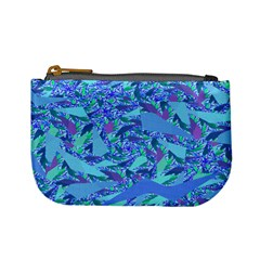 Blue Confetti Storm Coin Change Purse by KirstenStar