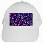 Blue purple Glass White Baseball Cap