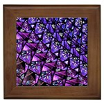 Blue purple Glass Framed Ceramic Tile