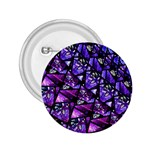 Blue purple Glass 2.25  Button