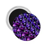 Blue purple Glass 2.25  Button Magnet