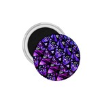 Blue purple Glass 1.75  Button Magnet