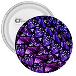 Blue purple Glass 3  Button